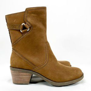 TEVA Foxy Mid Bison Brown Leather Boots Ankle Zip